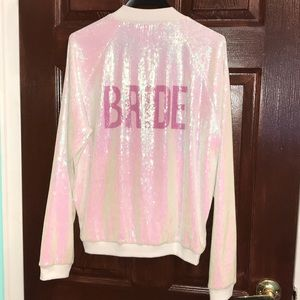 Hayley Paige Bride Sparkle Bomber Jacket
